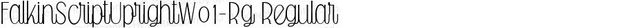 FalkinScriptUprightW01-Rg Regular Version 1.00