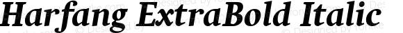 Harfang ExtraBold Italic