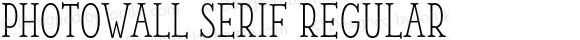 PhotoWall Serif
