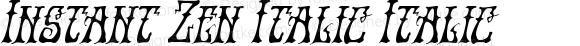 Instant Zen Italic Italic Version 1.0; 2013