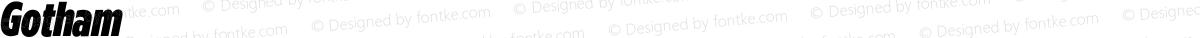 Gotham Condensed ExtraBlack Italic