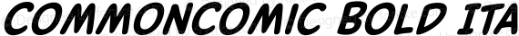 CommonComic Bold Italic preview image