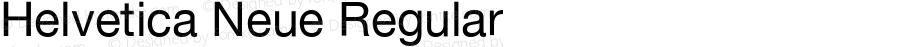 Helvetica Neue Regular