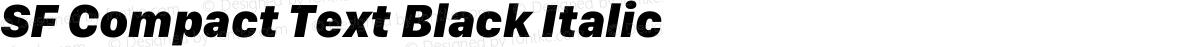 SF Compact Text Black Italic