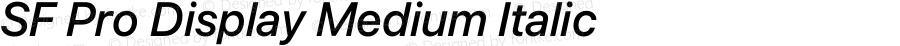SF Pro Display Medium Italic