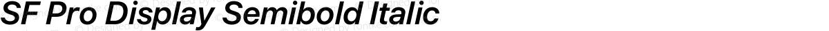SF Pro Display Semibold Italic