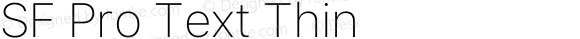 SF Pro Text Thin