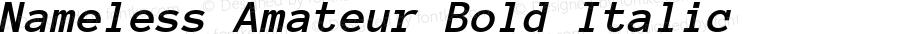 Nameless Amateur Bold Italic Version 1.002