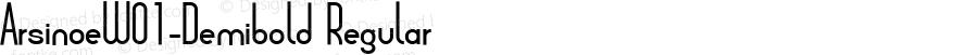 ArsinoeW01-Demibold Regular Version 2.00