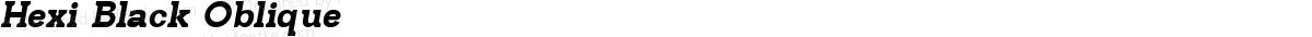 Hexi Black Oblique