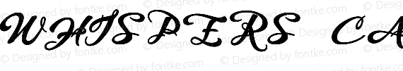 WHISPERS CALLIGRAPHY_DEMO_sinuous_BOLD Regular preview image