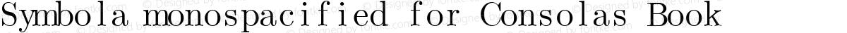 Symbola monospacified for Consolas Book