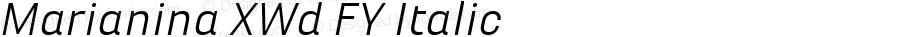 Marianina XWd FY Italic Version 1.000