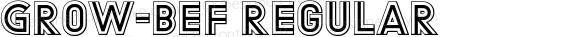 Grow-BEF Regular Version 1.002;PS 1.2;hotconv 1.0.70;makeotf.lib2.5.58329 DEVELOPMENT