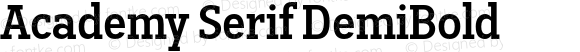 Academy Serif DemiBold