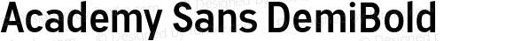 Academy Sans DemiBold