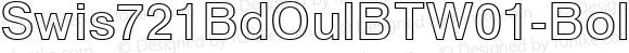 Swis721BdOulBTW01-Bold Regular Version 1.10
