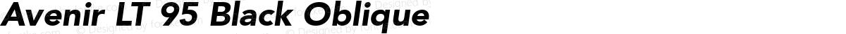 Avenir LT 95 Black Oblique