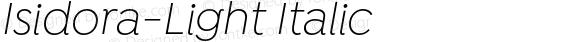 Isidora-Light Italic