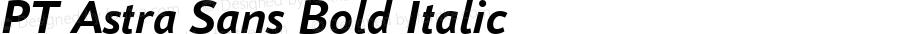 PT Astra Sans Bold Italic