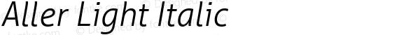 Aller Light Italic Version 1.010