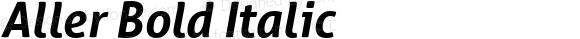 Aller Bold Italic Version 1.010