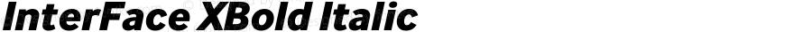 InterFace XBold Italic Version 2.001