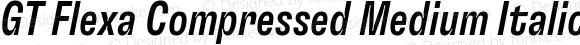 GT Flexa Compressed Medium Italic
