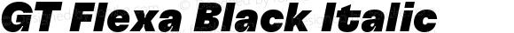 GT Flexa Black Italic