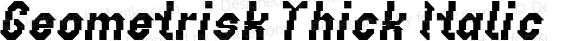 Geometrisk Thick Italic