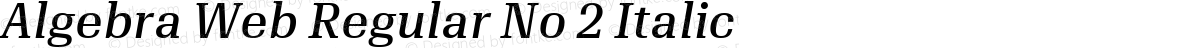 Algebra Web Regular No 2 Italic
