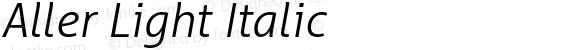 Aller Light Italic Version 1.00