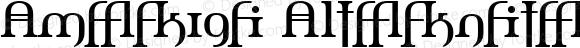 Amerika Alternates Regular 1.0; 2001