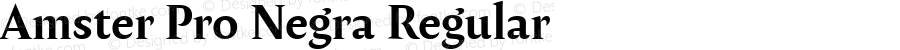 Amster Pro Negra Regular Version 1.000;PS 001.000;hotconv 1.0.70;makeotf.lib2.5.58329