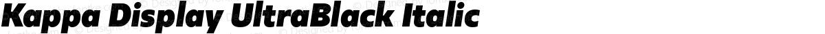 Kappa Display UltraBlack Italic