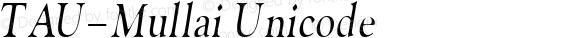 TAU-Mullai Unicode