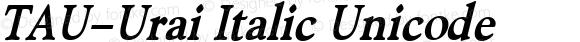 TAU-Urai Italic Unicode