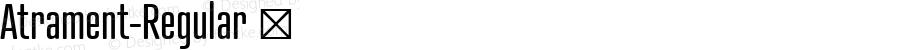Atrament-Regular ☞ Version 2.000;com.myfonts.easy.suitcase.atrament.std.wfkit2.version.4kxt