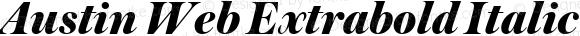 Austin Web Extrabold Italic