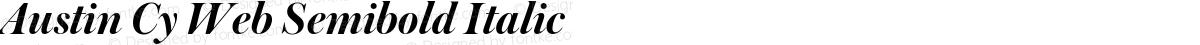 Austin Cy Web Semibold Italic