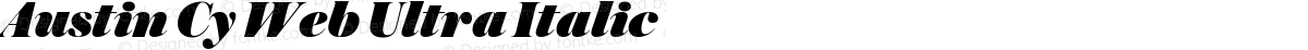 Austin Cy Web Ultra Italic