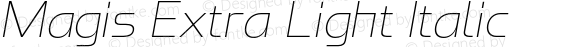 Magis Extra Light Italic