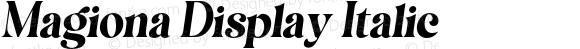 Magiona Display Italic