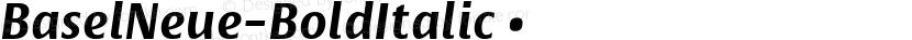 BaselNeue-BoldItalic ☞ Preview Image