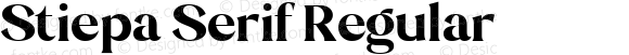 Stiepa Serif Regular