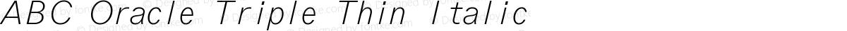 ABC Oracle Triple Thin Italic