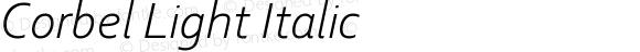 Corbel Light Italic