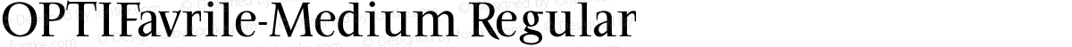OPTIFavrile-Medium Regular