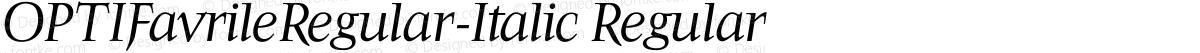 OPTIFavrileRegular-Italic Regular