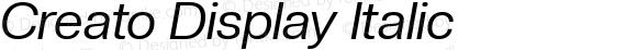 Creato Display Italic